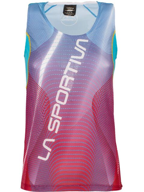 La Sportiva Sprint - Camiseta sin mangas running Mujer - rojo/azul